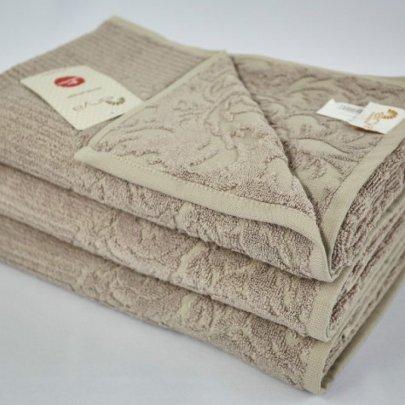 Бамбуковое махровое полотенце Arya. Jute темно-бежевый