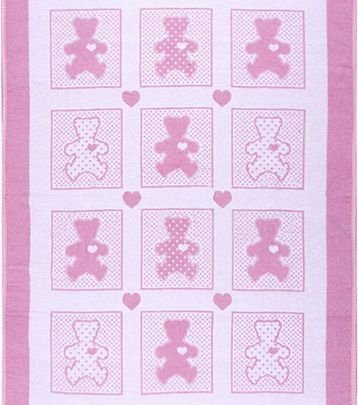 Хлопковое детское одеяло Vladi Люкс. Барни, размер 100х140 см
