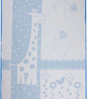 Хлопковое детское одеяло Vladi Люкс. Чунга-Чанга голубой, размер 100х140 см