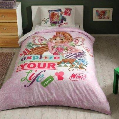 Детское постельное белье TAC. Winx Flora Fairytale