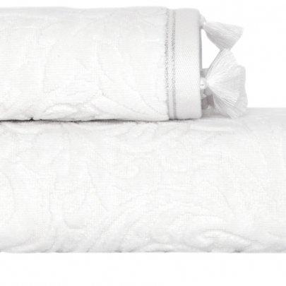 Махровое полотенце Arya. Жаккард Бархат Zoey Ekru