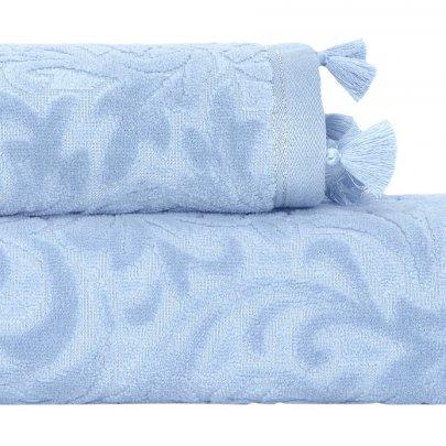 Махровое полотенце Arya. Жаккард Бархат Zoey Mavi