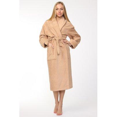 Женский махровый халат Homeline. Кофейный