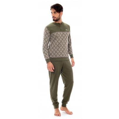 Пижама с брюками мужская Jokami. Orion зеленая