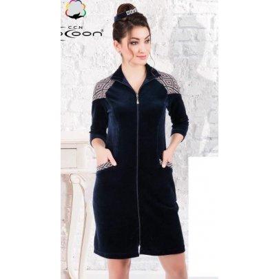 Халат женский велюровый Cocoon. 12-1439 laci