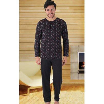 Домашний костюм с брюками мужской Cocoon. hall 93930 siyah