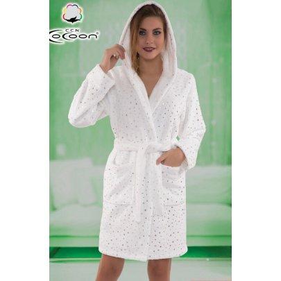 Халат женский микро welsoft Cocoon. 06-5293 ekru
