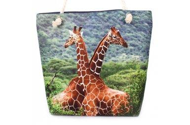 Сумка летняя женская Френди 0222 с жирафом, размер 30х40х13 см