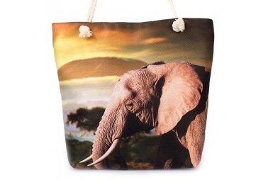 Сумка летняя женская Френди 0223 со слоном, размер 30х40х13 см