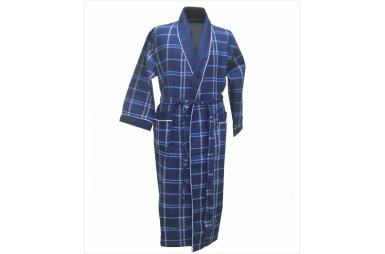 Мужской вафельный халат Nusa, модель 10050 синий