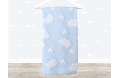 Махровое полотенце Irya. Cloud голубого цвета