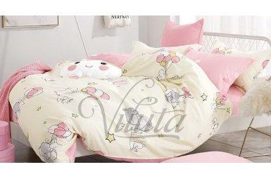 Постельное белье в детскую кроватку Viluta. Сатин 219