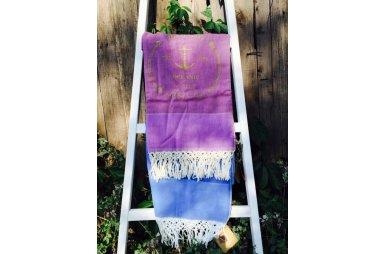 Пляжное полотенце Buldans. Anchor, фиолетовый