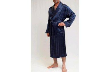 Халат мужской облегченный Nusa. Модель 12500 синего цвета