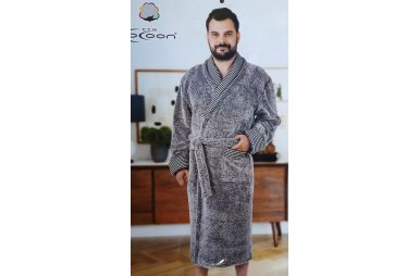 Халат мужской микро welsoft Cocoon. 14-5251 gray melange