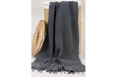 Пляжное полотенце Barine. Pestemal Stone Black черное