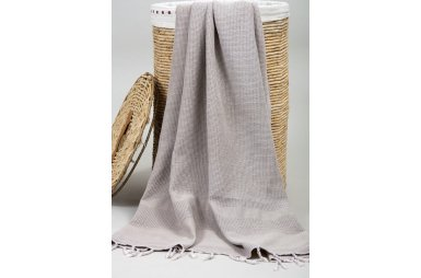 Пляжное полотенце Barine. Pestemal Stone Mink кофе