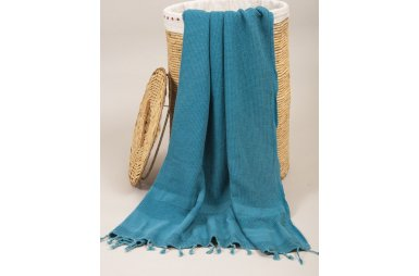 Пляжное полотенце Barine. Pestemal Stone Petrol голубой