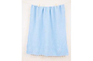 Пляжное полотенце Barine. Pestemal Stone Turquoise бирюзовое