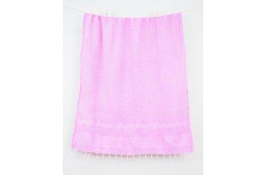 Пляжное полотенце Barine. Pestemal Stone Pink розовое