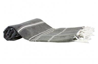 Пляжное полотенце LightHouse. Cross Peshtemal, темно-серое №52/16