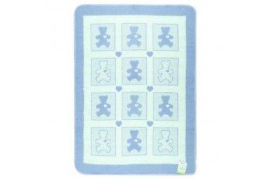 Детское одеяло Vladi. Барни голубое