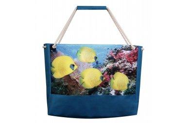 Сумка летняя XYZ. Holiday. Рыбы лимон 2241