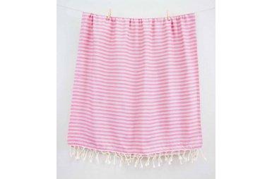 Пляжное полотенце Barine. Pestemal Herringbone Grey-pink
