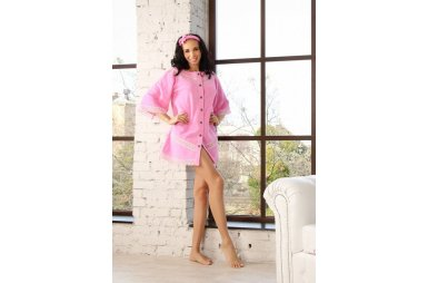 Махровый женский халат Guddini. Valeria розовый