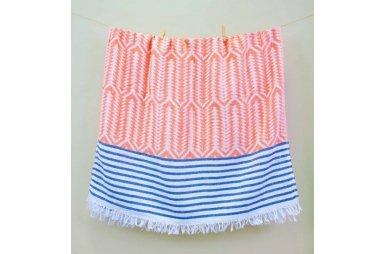 Пляжное полотенце Barine. Pestemal Seaman Navy-blue