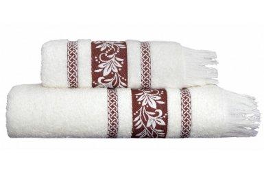Махровое полотенце Arya. Жаккард Auden кирпичный