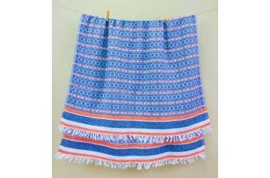 Пляжное полотенце Barine. Pestemal Sailor Oranj-Navy