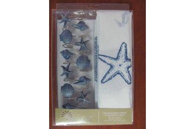 Шторка для ванной Arya. Sea Star