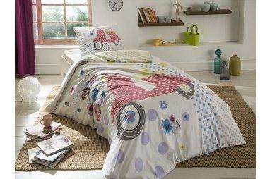 Светящееся постельное белье TAC. Ranforce Teen Vespa (простынь на резинке)