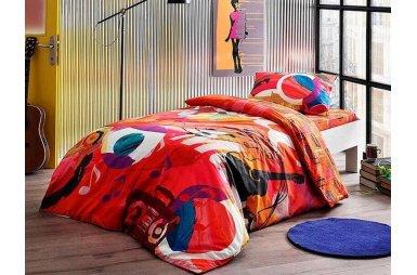 Подростковое постельное белье TAC. Ranforce Graffiti Player (простынь на резинке)