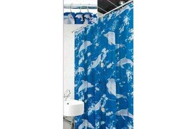 Шторка для ванной Arya. Dolphin