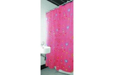 Шторка для ванной Arya Pink Love