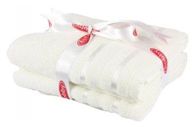 Набор из 2-х махровых полотенец Hobby. Nisa молочный