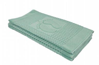 Полотенце-коврик для ног Arya. Winter Soft Аква, 50х70 см