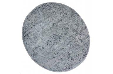 Коврик для ванной Аrya. Eskitme серый, круглый