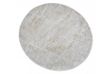 Коврик для ванной Аrya. Eskitme слоновая кость, круглый