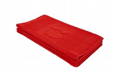 Полотенце-коврик для ног Arya. Winter Красный, 50х70 см