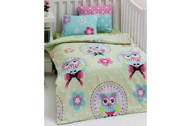 Постельное белье в детскую кроватку Eponj Home. Baykusa Yesil