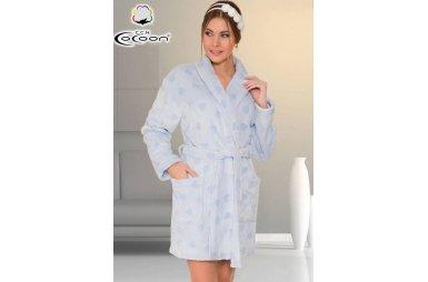 Халат женский микро welsoft Cocoon. 05-5257 mavi