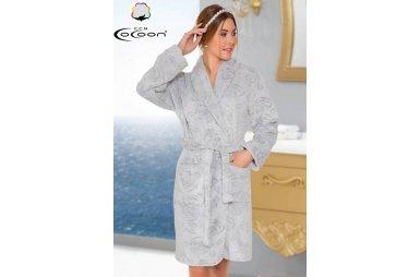 Халат женский микро welsoft Cocoon. 05-5339 gri