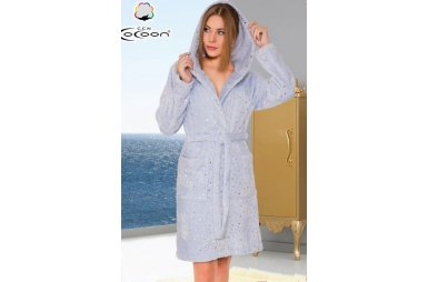 Халат женский микро welsoft Cocoon. 06-5293 mavi