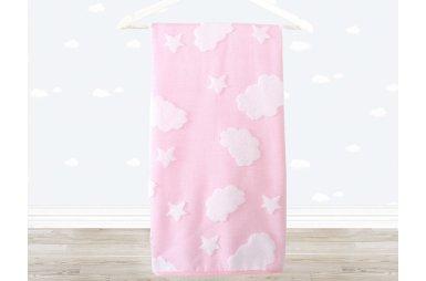 Махровое полотенце Irya. Cloud розового цвета