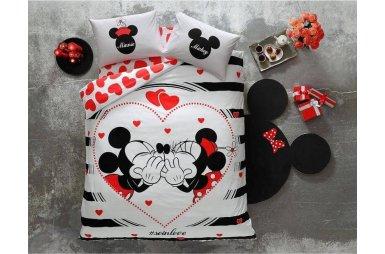Светящееся постельное белье TAC. Disney M&M Amour (простынь на резинке)