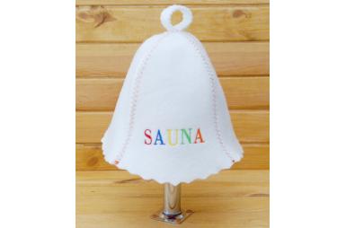 Шапка для сауны Сауна, цветная