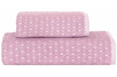 Махровое полотенце Arya. Жаккард Finn Pink